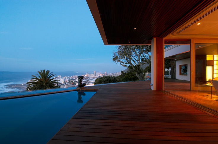 Ellerman Villa and Spa is perched overlooking the ocean in the exclusive suburb of Bantry Bay.