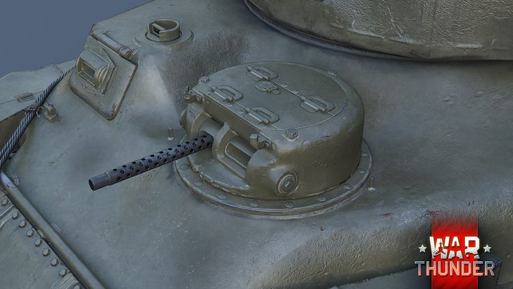 Close Up of the auxiliary machine gun turret (Left Side of Hull) on the M4A5 Medium Tank / Ram Mk II Cruiser Tank (early production version)