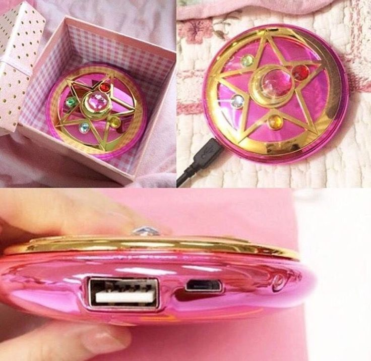 Carregador Portátil Inspirado no Broche de Sailor Moon Cristal