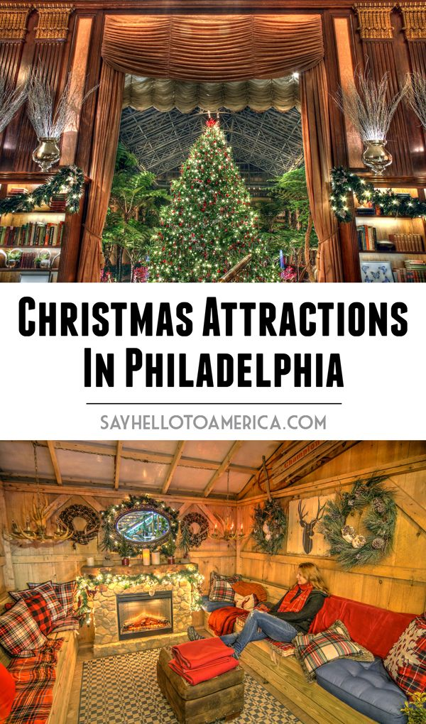 The best Christmas attractions in Philadelphia, Pennsylvania, including the Macy's Christmas Light Show, Christmas Village, and RiverRink Winterfest. Click for a magical Christmas experience or pin for later!