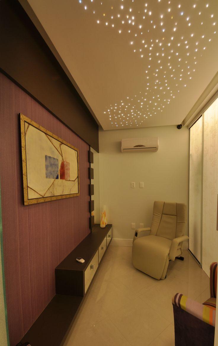 Iluminação teto - Céu Estrelado - Poltrona. Sala de Descanso - Jardim Odontologia