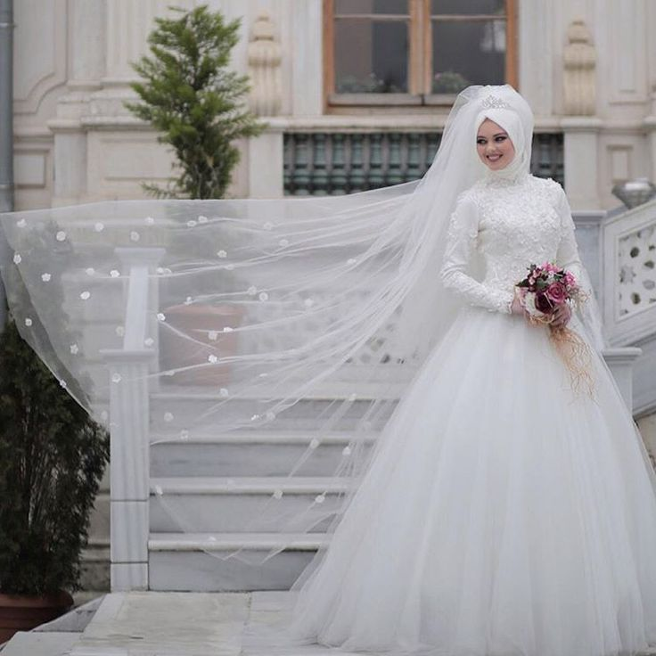21 best Hijab Wedding Dresses images on Pinterest | Hijab wedding ...