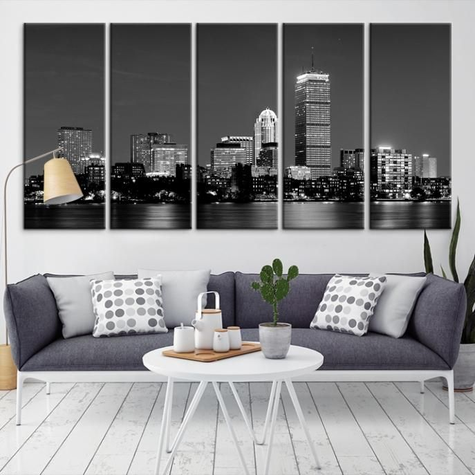 25882   Boston City Decorative Wall Art Canvas Print   Boston Skyline,  Boston, Boston Canvas, Boston Wall Art, Canvas Print, Boston Print, Wall Art
