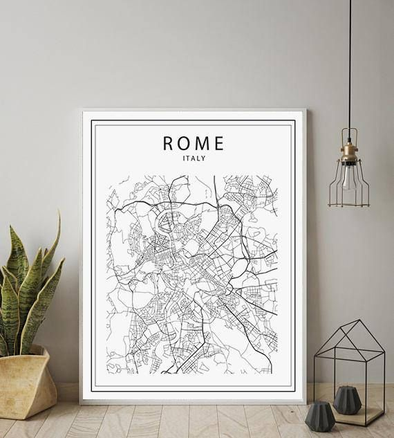 Rome Map Printable Rome Map Rome Map Poster Rome Map City Map