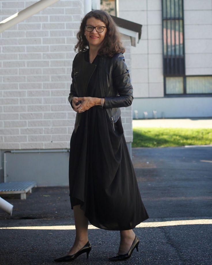 black dress leather jacket