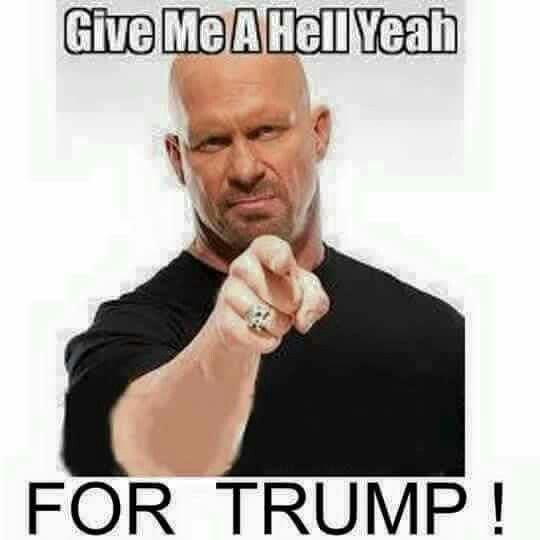 """HELL YA.!!!!!!!.......YOU GO TRUMP.....I'M RIGHT BEHIND YOU ALL THE WAY TO THE WHITE HOUSE BUDDY......A VOTE FOR """"TRUMP"""" IS A VOTE FOR COMMON SENCE.........""""TRUMP"""" HAS MORE COMMON SENCE IN HIS PINKY FINGER THEN OBAMA HAS IN HIS  WHOLE BODY......GET IT NOW PEOPLE.?....YOU SHOULD"""