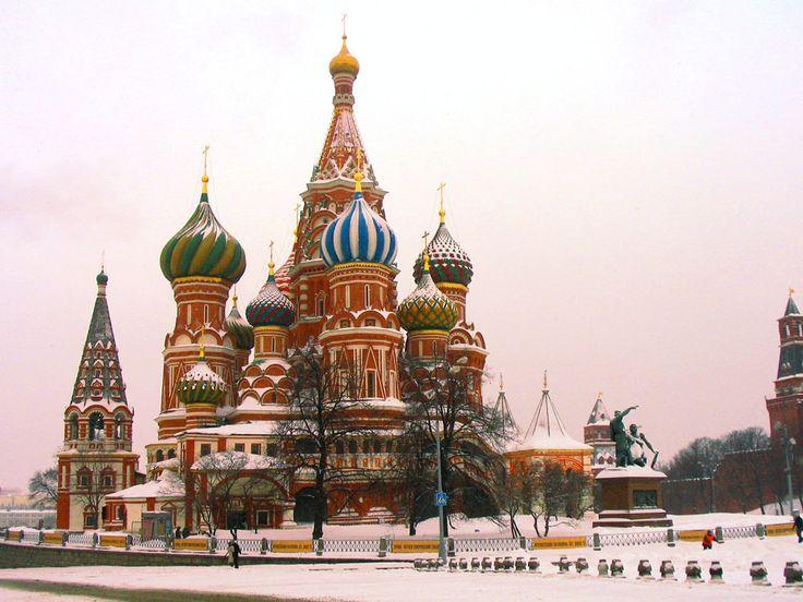 Place rouge à Moscou en Hiver