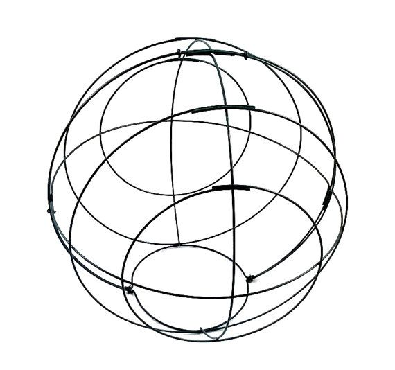 BALL Topiary wire frame 50cm by BSManufaktura on Etsy
