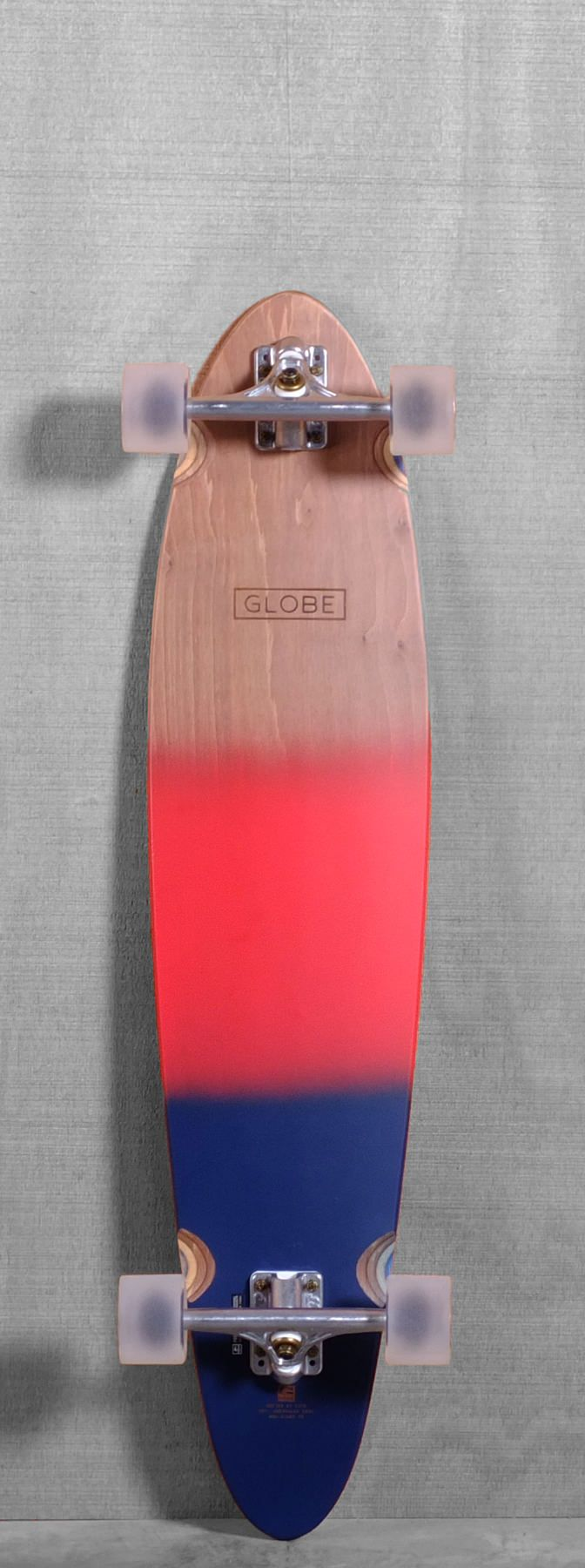 "Globe 40"" Pinner Longboard - Red/Navy Spray"