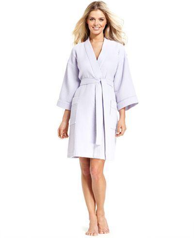 Charter Club Short Spa Waffle Robe - Bras, Panties & Shapewear - Women - Macy's