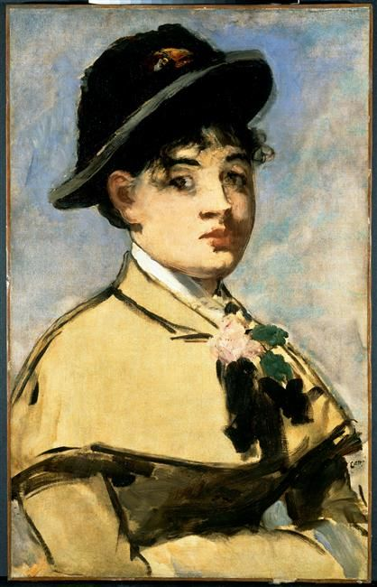 Jeune femme à la pélerine Manet Edouard, 1881                                                                                                                                                                                 Plus