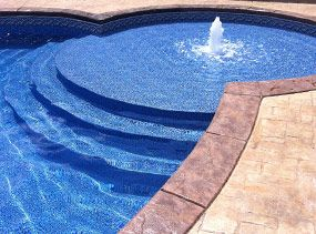 pool with shallow step | Inground Steel Swimming Pools