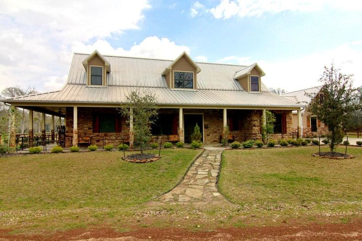 1000 images about metal roofing on pinterest exterior for Ranch style steel homes