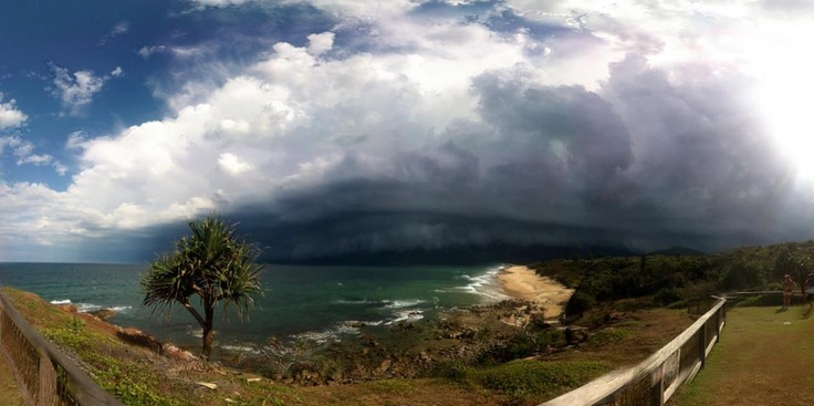 Storm approaching Coolum Beach - Sunshine Coast - Australia - photo by Jimmy - it looked a lot worse than it was.....