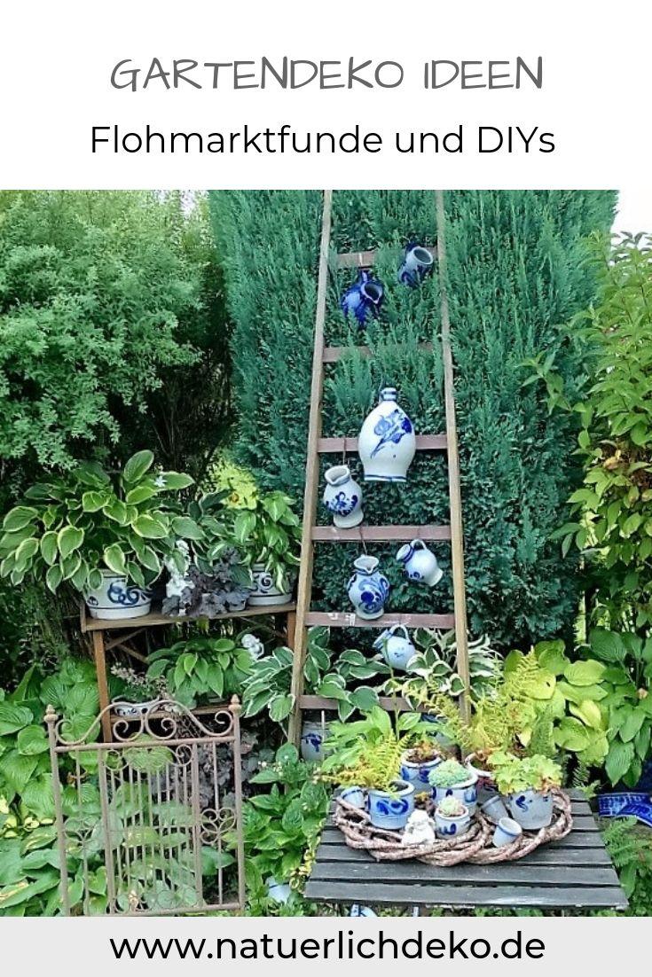 Ein Garten Wie Aus Der Gartenzeitschrift Naturlich Deko Garten Deko Gartenleiter Zimmerpflanzen Ideen