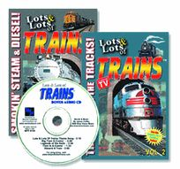 LOTS and LOTS of TRAINS 2 DVD SET Plus FREE Audio CD - As Seen on TV! - Offer Not In Stores! Great for Train Themed Kid's Birthday Parties, Playtime, Classroom Use!