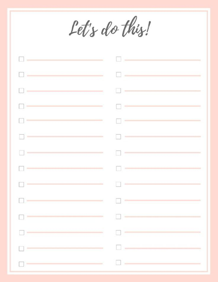Free Stylish To Do List Plus A Bonus To Do Lists Printable