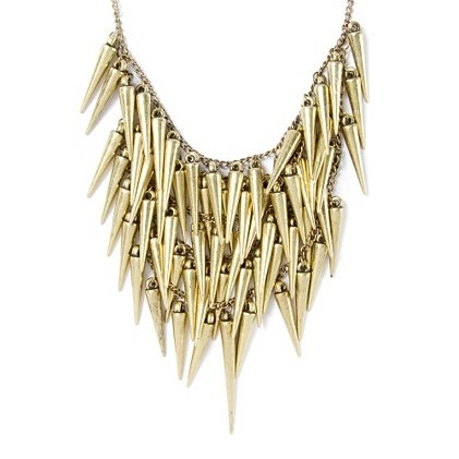 Dare to rock this ultra-fierce Gold Spikes Four-Tier Necklace #moreismore