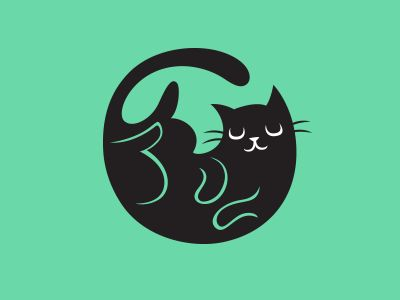 A character from a logo for the website selling cat-themed products: t-shirts, pillows, mugs, coasters, wall art, etc.  → More on Behance