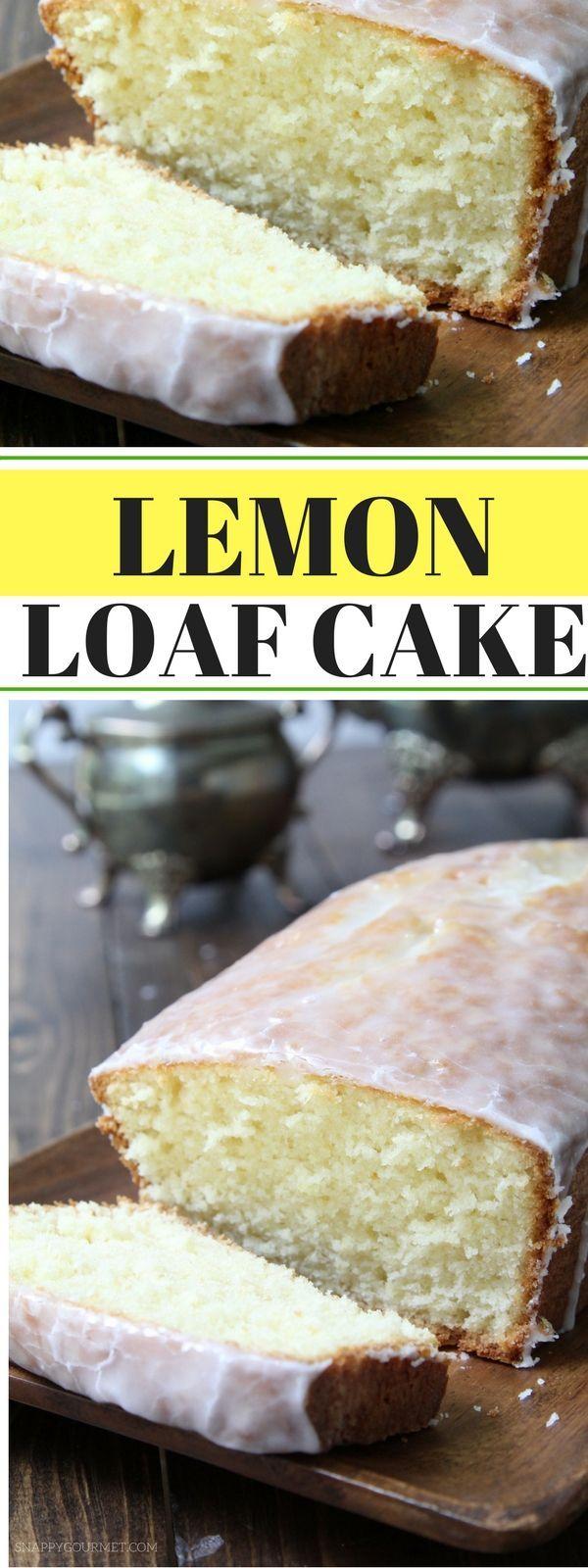 Lemon Loaf Cake - the best lemon cake recipe with an easy glaze just like a copycat of Starbucks lemon cake! SnappyGourmet.com