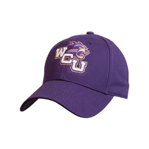 Western Carolina - Western Carolina University Purple Heavyweight Twill Pro Style Hat WCU w/Head