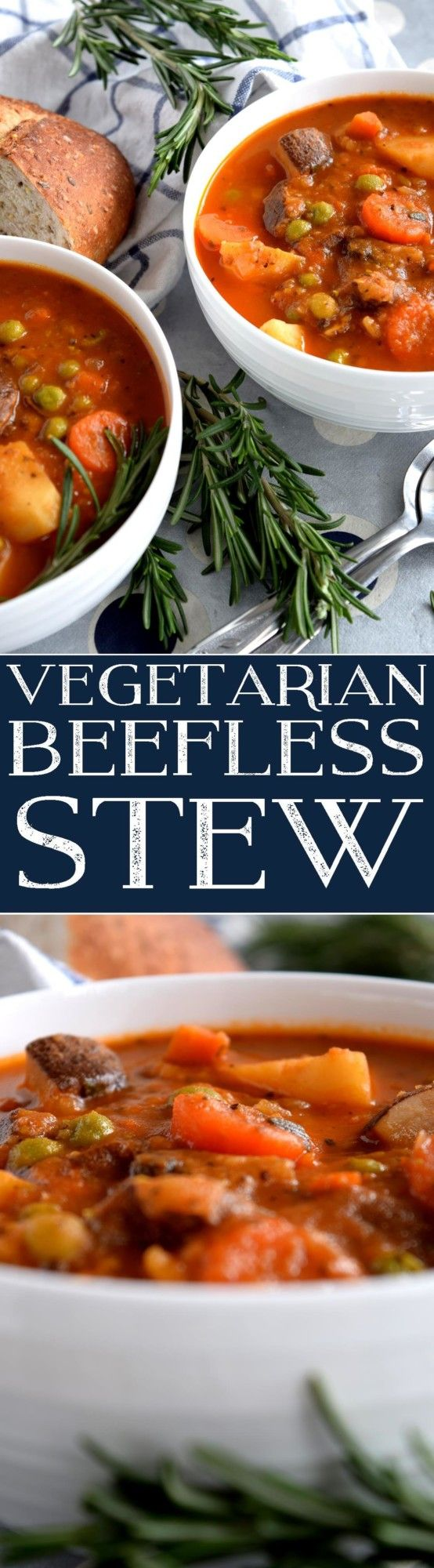 Vegetarians rejoice! A hearty beef stew is no longer off limits to you with this Vegetarian Beefless Stew! By substituting the beef with chunky, sauteed portabella mushrooms, the recipe maintains its meatiness and texture. Together, with root vegetables, fresh herbs,…