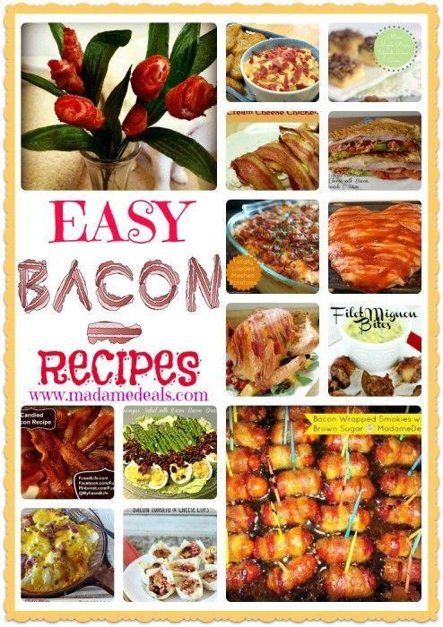 Lots of tasty Bacon Recipes.
