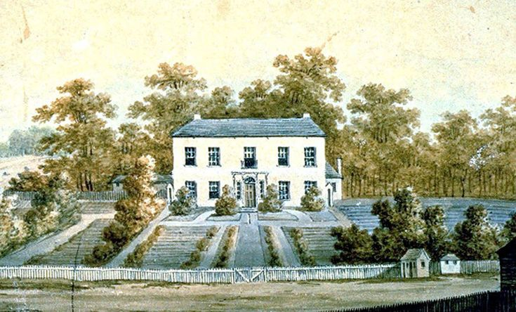 Government House Parramatta, 1805. Painting by George William Evans