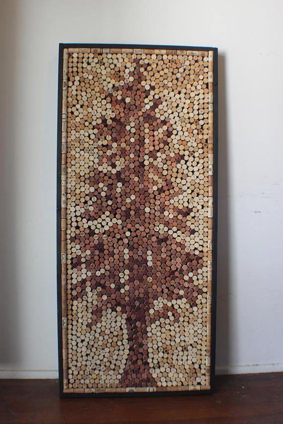 Wall Art Made Out Of Corks In The Shape Of A Western Hemlock Tree 68 X 28 Wine Cork Art Wine Cork Projects Wine Cork Crafts