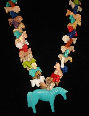 All Horse Multicolored Fetish Necklace |