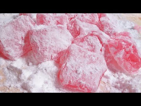 bala de goma, dicas quentes de como cortar افضل طريقة لتحضير راحة الحلقوم بالمنزل rose loukoum