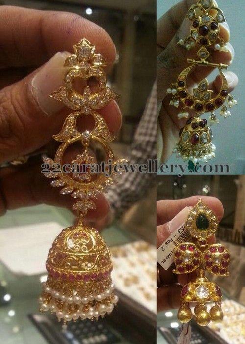 Jewellery Designs: Trendy Long Steps Jhumkas