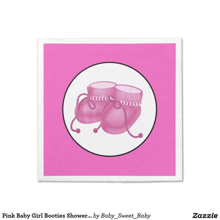 Pink Baby Girl Booties Shower Paper Plates Standard Cocktail Napkin  sc 1 st  Pinterest & 521 best Baby Shower : Paper Napkins images on Pinterest | Cocktail ...