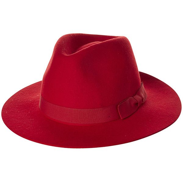 Womens Brixton Indiana Fedora Womens Hat Red Cotton ($77) ❤ liked on Polyvore featuring accessories, hats, red, womens accessories, band hats, floppy fedora, cotton hat, red fedora and crown hat
