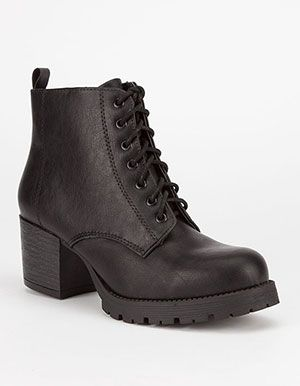 SODA Nevitt Womens Military Boots Black