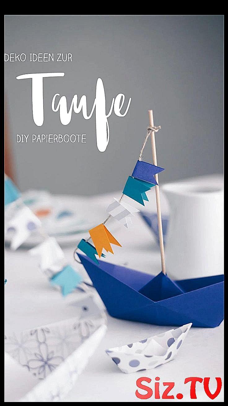 Diy Taufdeko Selbermachen Origamiboote Falten Diy Tischdeko Zur