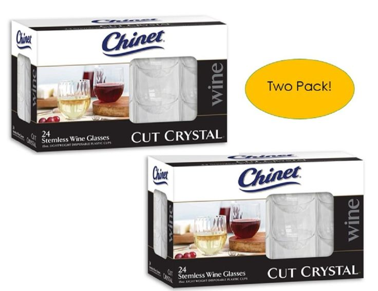 Chinet Stemless Plastic Wine Glasses 24 Count Disposable Cups Pack of 2 #Chinet #BachelorBacheloretteParty