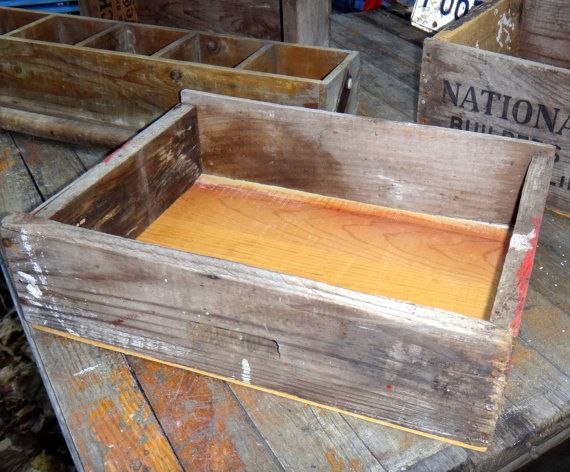 Primitive, rustic storage crate. Will make great wall shelf - just hang on wall.