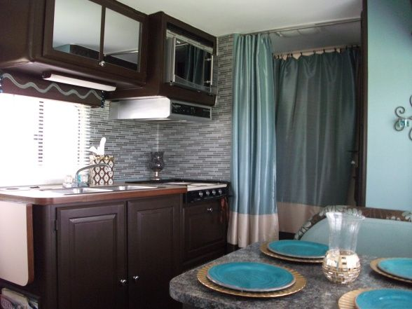 Diy Glam Rv Remodel With Tufted Wall Updated Our 25 Year Old Rv From Mauve Pink Color Scheme