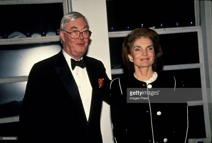 Jacqueline Kennedy Onassis and Senator Daniel Patrick Moynihan circa 1992 in New York City.