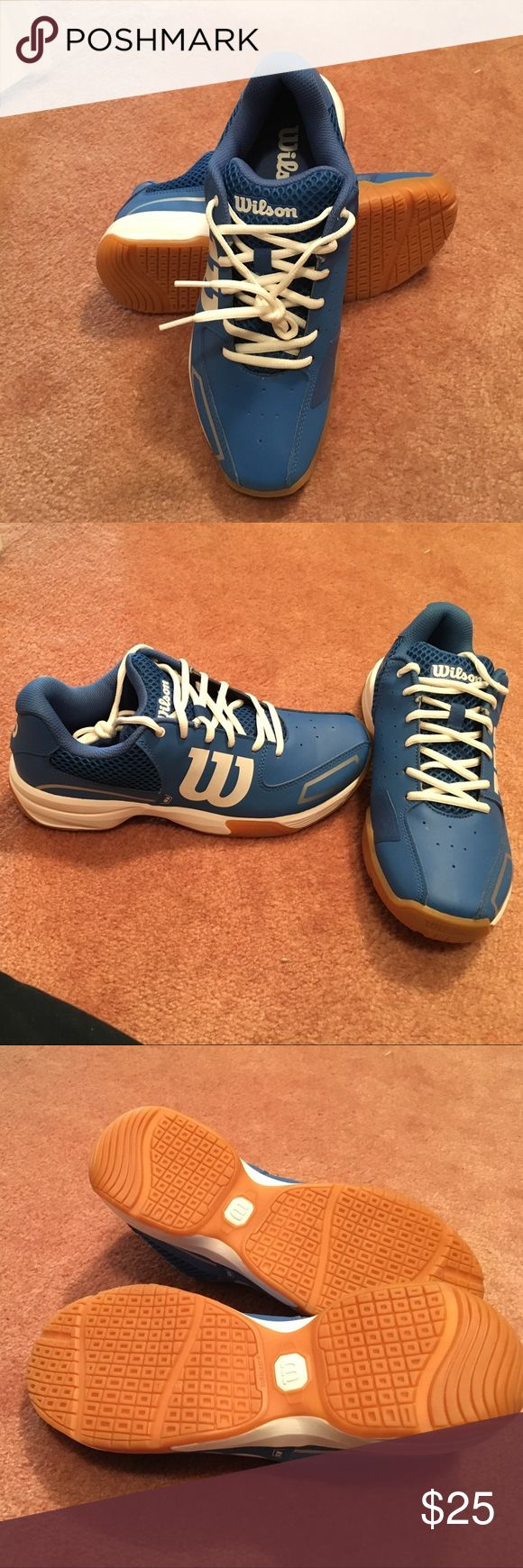 Stylish, Hip, NEVER WORN WILSON TENNIS SHOES. Royal blue tennis Shoes. Kick around town in them or wear for gym and racquet sports. Quality and Reputable Company Wilson women's shoes. Wilsons Leather Shoes Athletic Shoes