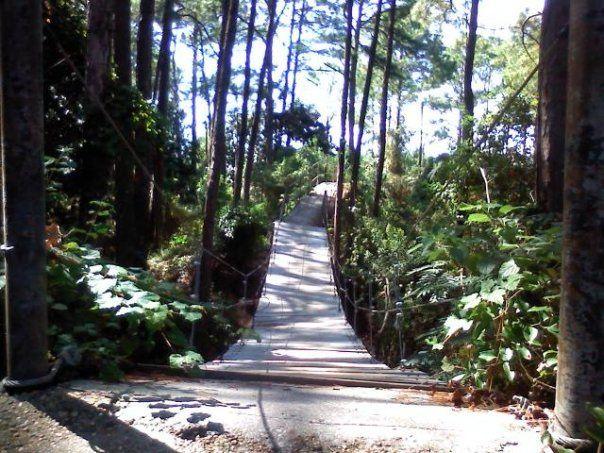 Swinging bridge behind Tombstone Territory, Panama City Beach, Florida by stevesobczuk, via Flickr