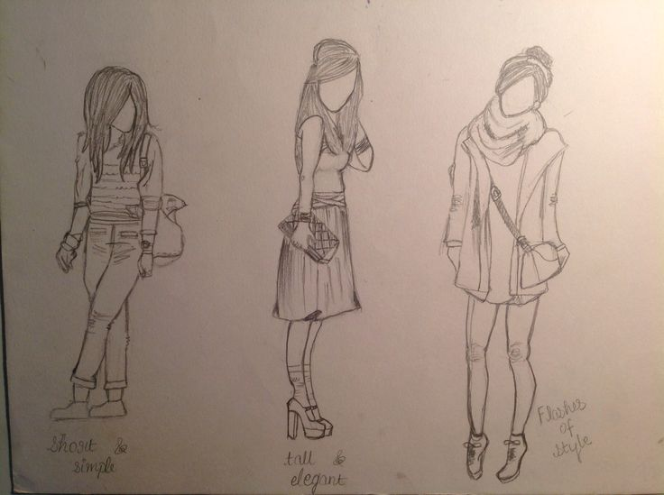 Sketches of girls made by tarushi
