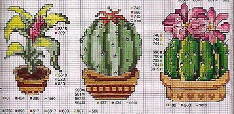 Schema punto croce Cactus-2