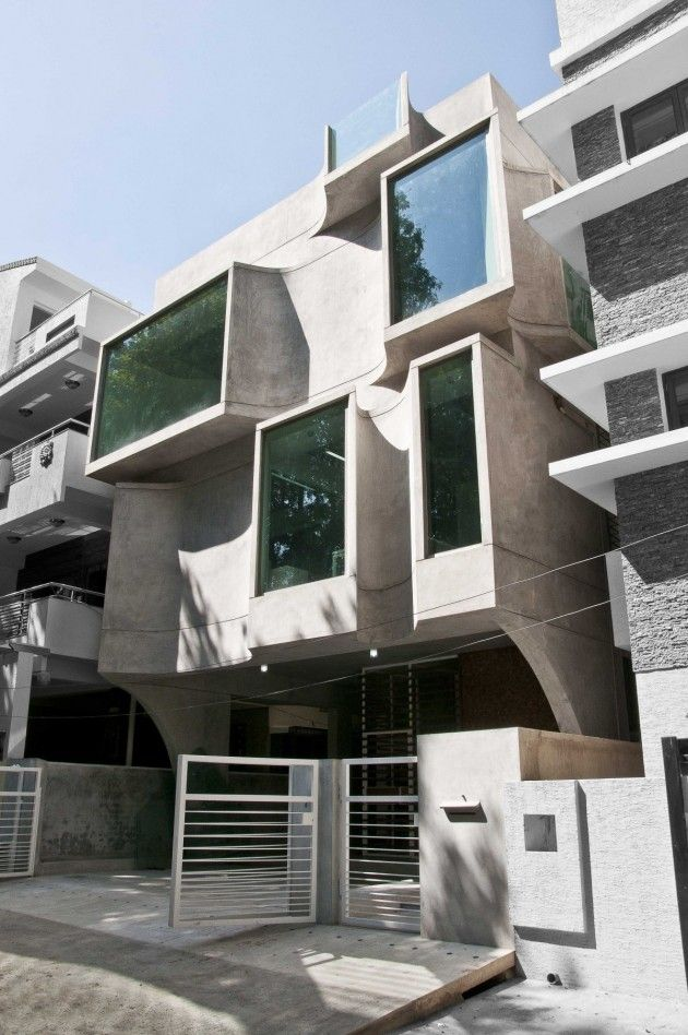 Facade of the shipara office building by sdeg for Architects in bangalore