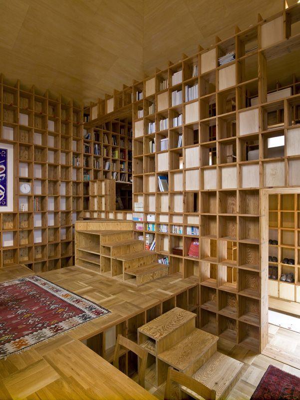 Bookshelves, bookshelves everywhere!