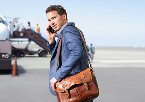 Complete your office outfit with a messenger bag for men