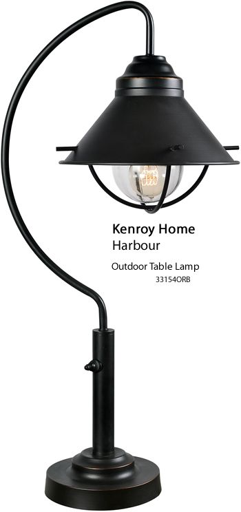 Kenroy Home 33154orb Harbour Outdoor Table Lamp Farm House Or Beach The Is Ideal Look At Price