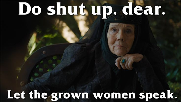 I LOVE her!!!! Lady Olenna Tyrell, the Queen of Thorns (6x10)