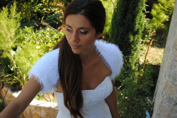 Bruids Bolero-bruiloft Bolero-namaakbont bruiloft bolero-witte by ThreeBirdsSitting   Etsy